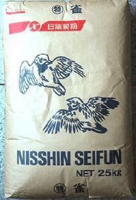 日清製粉 特雀 25kg (高級生茄麺乾麺用粉-中力粉)