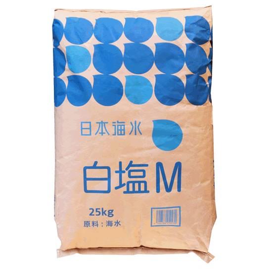【事業所配送(個人宅不可)】 ★業務用★日本海水 白塩M(さぬき塩中粒)25kg