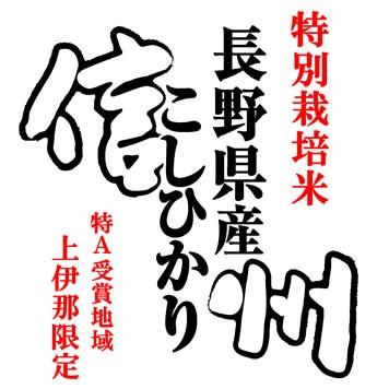 【事業所配送(個人宅不可)】 特別栽培米 10kg 令和元年産 長野県産 (伊那) コシヒカリ 10kg