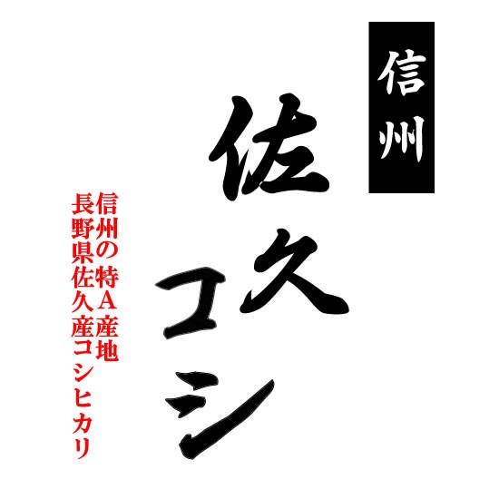 【予約販売】新米 「A」受賞(昨年) 令和元年産 長野県佐久産コシヒカリ 玄米10kgx2袋 長期保存包装