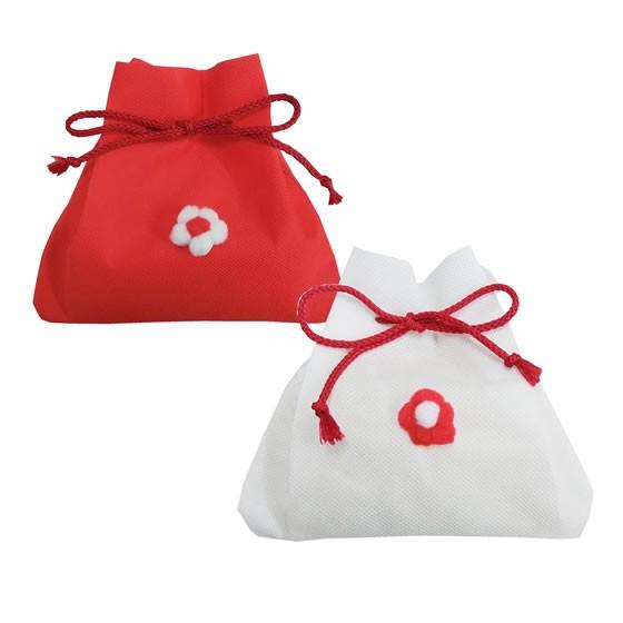 新潟県魚沼コシ 紅白きんちゃく袋 寿・お祝い向け (化粧箱入 のし対応可)