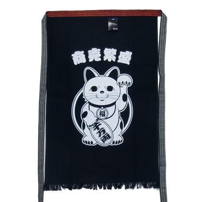 帆前掛け 招き猫【投函便・メール便 送料無料対応】