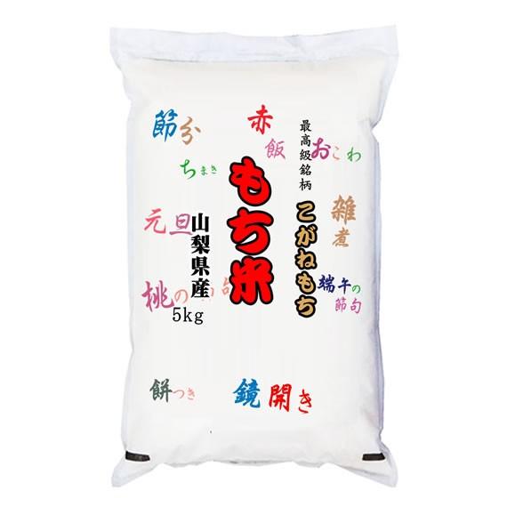 新米 最高級もち米 令和元年産山梨県産こがねもち 玄米5kgx4袋 長期保存包装