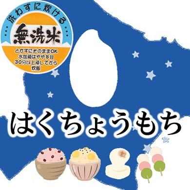 【予約販売】 新米 無洗米 令和2年産 北海道産 はくちょうもち 10kg