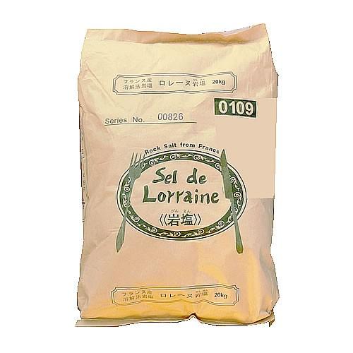 【事業所配送(個人宅不可)】 ロレーヌ岩塩 20kg