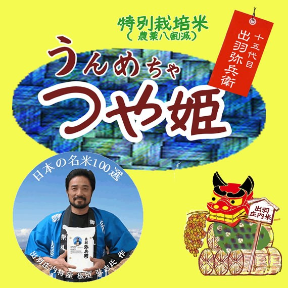日本の名米100選 令和元年産 8割減以上 特別栽培米 山形県産つや姫 板垣ブランド 白米 10kg (玄米/無洗米 選択可)