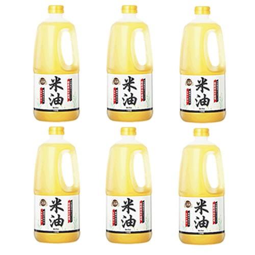 【事業所配送(個人宅不可)】 BOSO ボーソー こめ油1350gx6本 (1ケース)