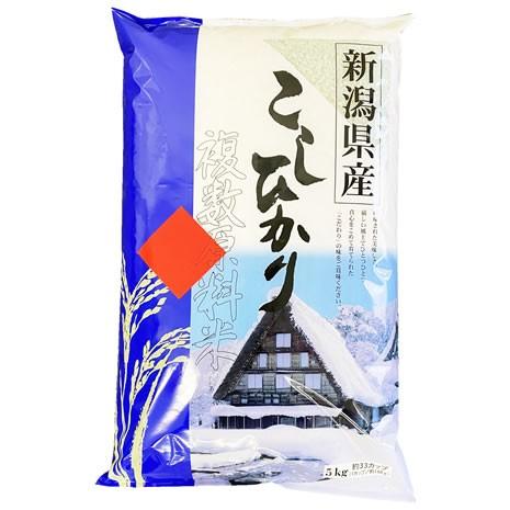 【事業所配送(個人宅不可)】 新潟県産コシヒカリ ブレンド 白米 5kgx1 (保存包装 選択可)