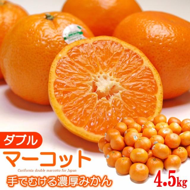 ダブルマーコット(約4.5kg)アメリカ産 みかん×オレンジ マーコット 食品 フルーツ 果物 みかん オレンジ 送料無料