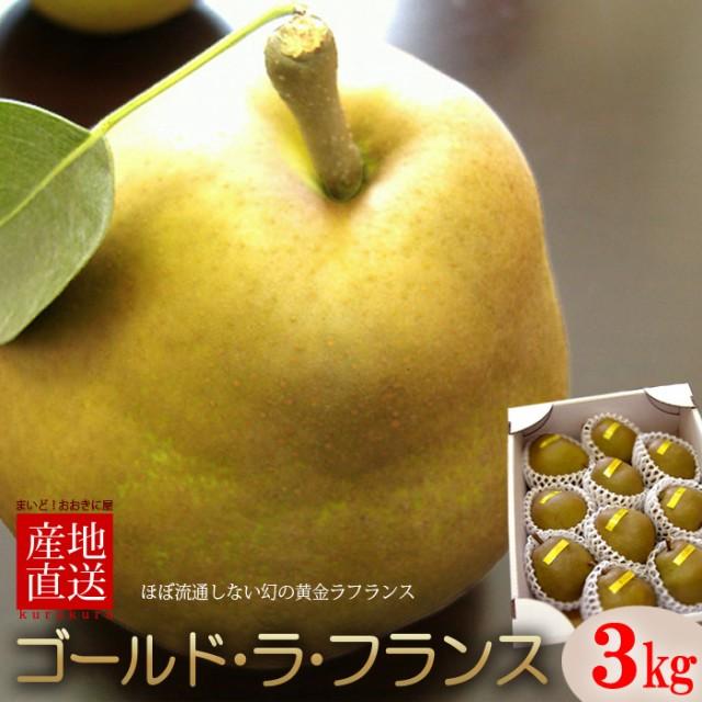 ゴールドラフランス(3kg)山形産 贈答用 洋梨 西洋梨 食品 フルーツ 果物 洋梨 送料無料 お歳暮 ギフト