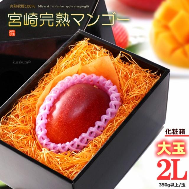 宮崎マンゴー(2L/約350g)宮崎産 秀品 ギフト 贈答 国産 完熟 マンゴー 食品 フルーツ 果物 マンゴー 送料無料