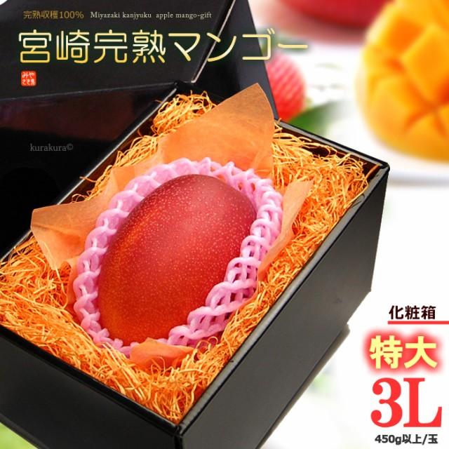 宮崎マンゴー(3L/約450g)宮崎産 秀品 ギフト 贈答 国産 完熟 マンゴー 食品 フルーツ 果物 マンゴー 送料無料