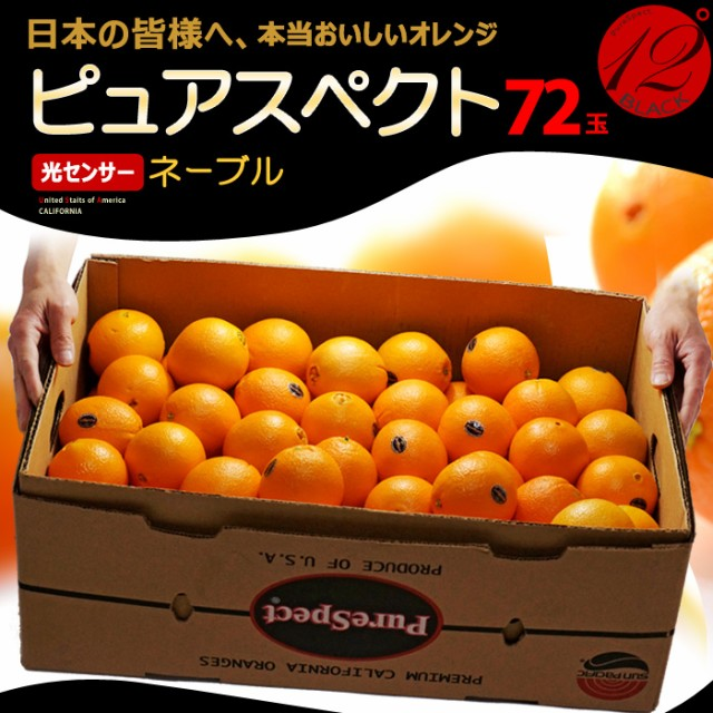 ピュアスペクトブラック ネーブル(72玉/約17kg)アメリカ産 糖度12度以上 カリフォルニア オレンジ ネーブル 高糖度 甘い 食品 フルーツ