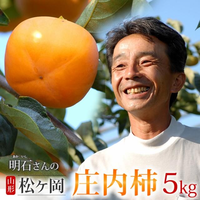庄内柿 L(約5kg)山形産 種なし柿 産地直送 食品 フルーツ 果物 柿 送料無料
