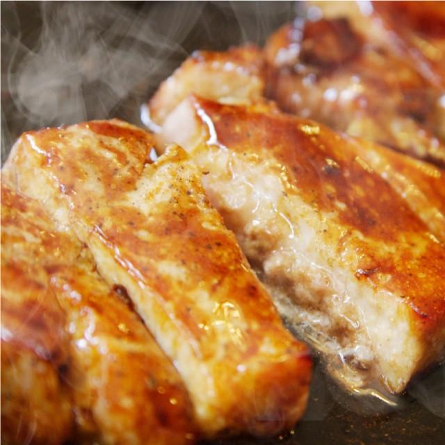 送料無料 選べる 薄切り・厚切り タレ漬け 豚ロース トンテキ メガ盛り2kg( BBQ バーベキュー 焼くだけ 焼肉 ステーキ) 焼くだけ オー