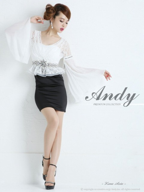Andy ドレス アンディ ワンピース 【AN-OK952】 Andyミニドレス 【送料無料】 パーティードレス/結婚式/2次会/高級ミニドレス☆
