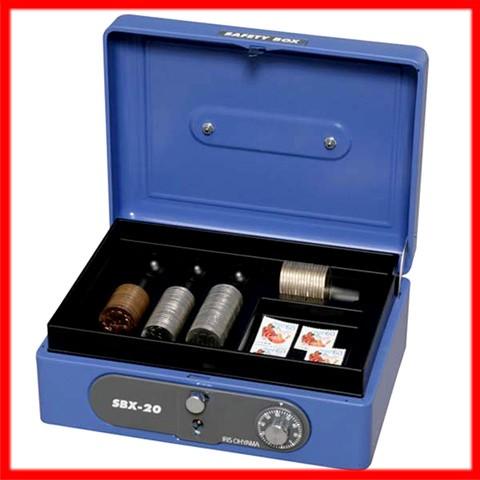 手提げ金庫 ≪A6サイズ≫ SBX-A6 ブルー[事務用品・保管・鍵付] アイリスオーヤマ