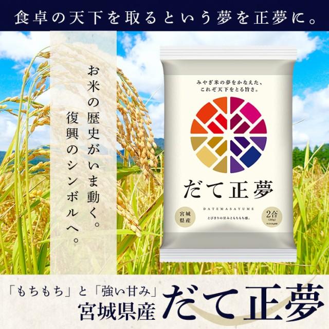 だて正夢 300g 低温製法米 宮城県産 こめ コメ 米 お米 ブランド米 美味しい アイリスオーヤマ