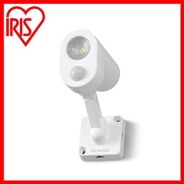 乾電池式LED防犯センサーライト パールホワイト LSL-B3SN-200 アイリスオーヤマ