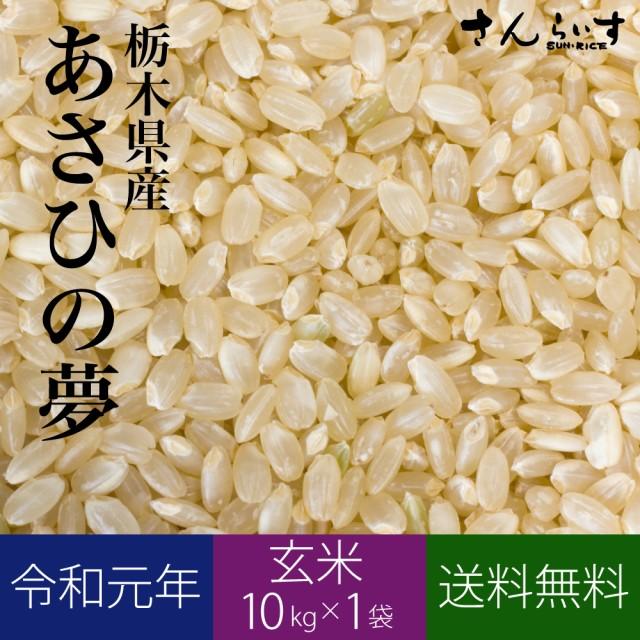 新米 令和元年 玄米 米 お米 10kg あさひの夢 栃木県産 送料無料 沖縄不可