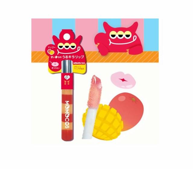 BW モモコス フルーツリップグロス マンゴー チェリー ピーチ グレープフルーツ MMC 4色 コスメ メイクグッズ 化粧品 口紅 果物 甘い 香