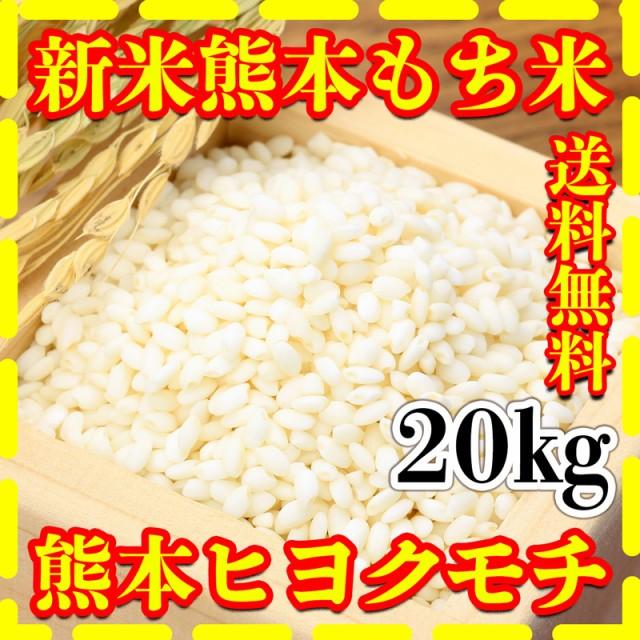 米 20kg 九州 熊本県産 ヒヨクモチ もち米 新米 令和2年産 送料無料 5kg4個 精白米 くまもとのお米