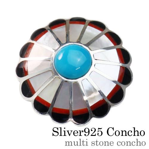 マルチストーンコンチョ シルバー925 アクセサリー baetc-1210