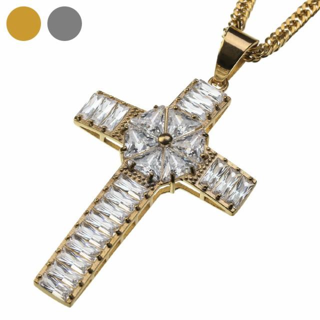 ジルコニア ケルト クロス ペンダント (トップのみ) ネックレス メンズ 十字架 ヒップホップ HIPHOP B系 bassp-0175-top