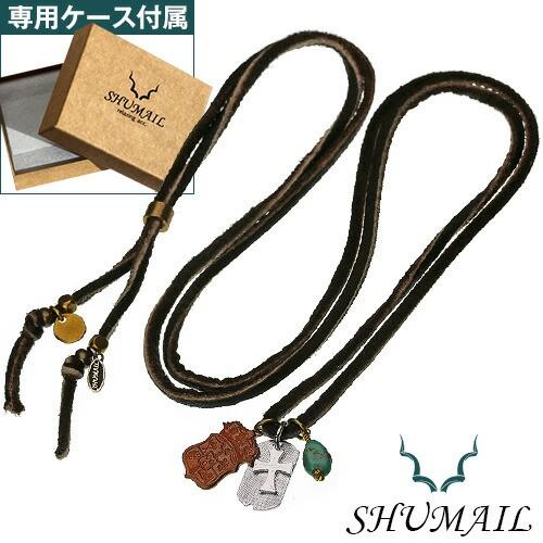 SHUMAIL(シュメール) シールドチャームレザーペンダント ブランド アクセサリー ペンダント ネックレス メンズ ブラス shp-0102