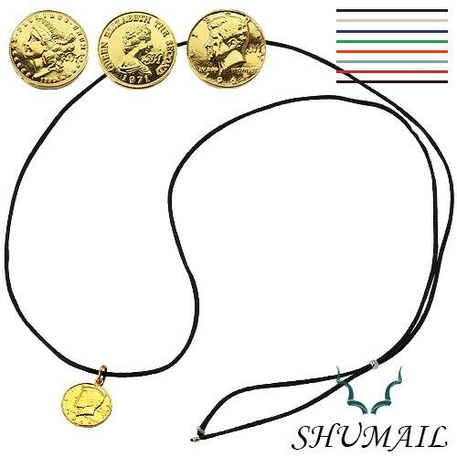 SHUMAIL(シュメール) ゴールドコインペンダント/カラーコード ブランド アクセサリー ペンダント ネックレス メンズ ブラス shp-0108