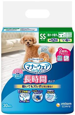 【ユニチャーム】マナーウェア ペット用紙オムツ SSサイズ 30枚