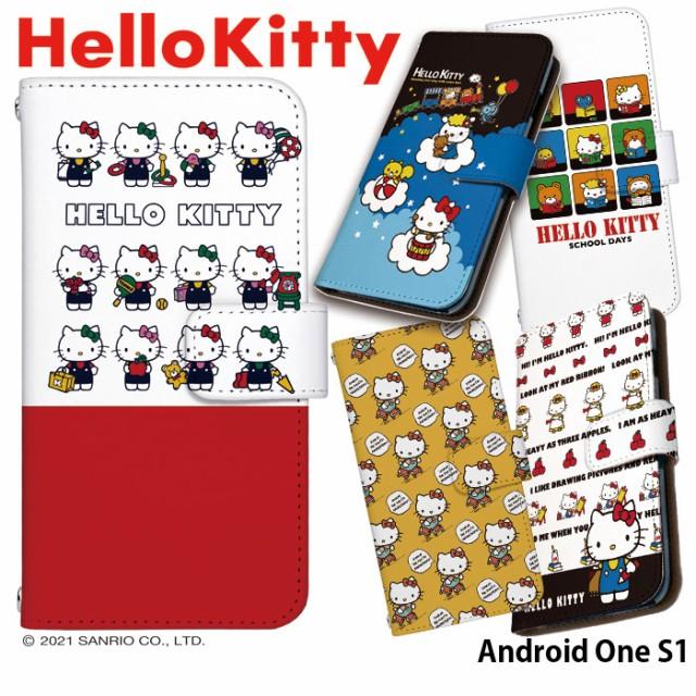 3bb9cba4f5 Android One S1 ケース 手帳型 スマホケース デザイン ハローキティ Hello Kitty キティ グッズ アンドロイドワン