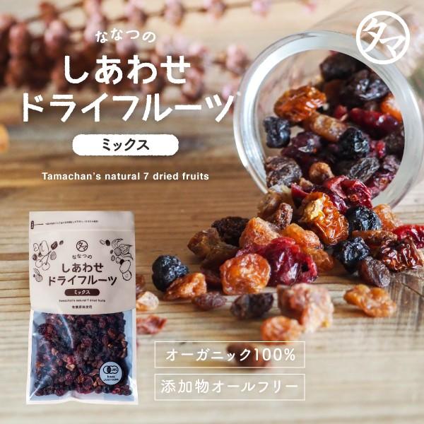 ななつのドライフルーツミックス300g 送料無料 有機オーガニック100% 7種類のドライフルーツ 着色料・香料・添加物不使用 果物 栄養 おや