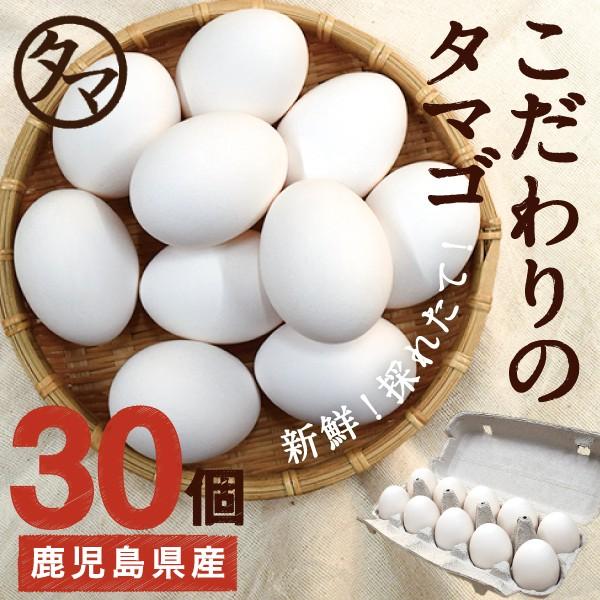 霧島山麓 タマゴ 30個 新鮮 生卵 たまご 南九州産 お取り寄せ 玉子 九州 品質 衛生管理 卵 安全 高品質 鹿児島 送料無料