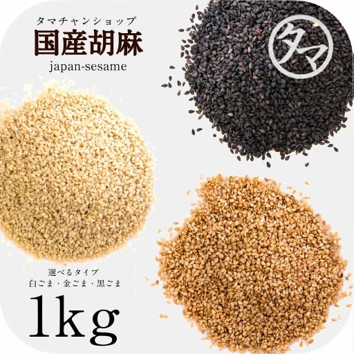 【送料無料】香川県産ごま1kg【金ごま/黒ごま/白ごま】香り豊かな、さっくりと軽い後味が特長の栄養満点のセサミン・ゴマ
