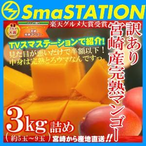 訳あり宮崎完熟マンゴー 3kg詰め 正規品の50%OFF以上 お得 送料無料 スマステーション紹介 フルーツ 果物 お取り寄せグルメ お取り寄せ