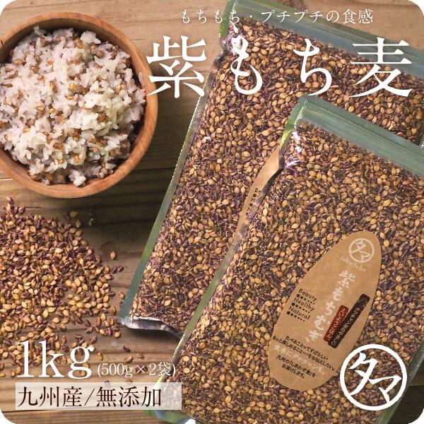 【送料無料】紫もち麦 国産 1kg ダイシモチ 無添加 30年度産 もち麦ごはん 食物繊維 高タンパク β-グルカン ポリフェノール