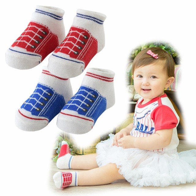 caa1a08ecac14 シューズ柄ソックス ベビー服  赤ちゃん  服  ベビー  靴下  ソックス  クルー  男の子  女の子  出産祝い  ギフト   シューズ柄の可愛いソックスです。