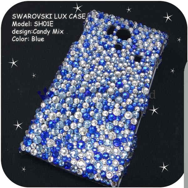 iPhone5/5S/5Cケースカバー豪華スワロフスキーデコ電CANDYMIX-LUX-IP5