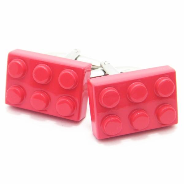 インパクト勝負!!真っ赤なLEGOブロックのカフスボタン