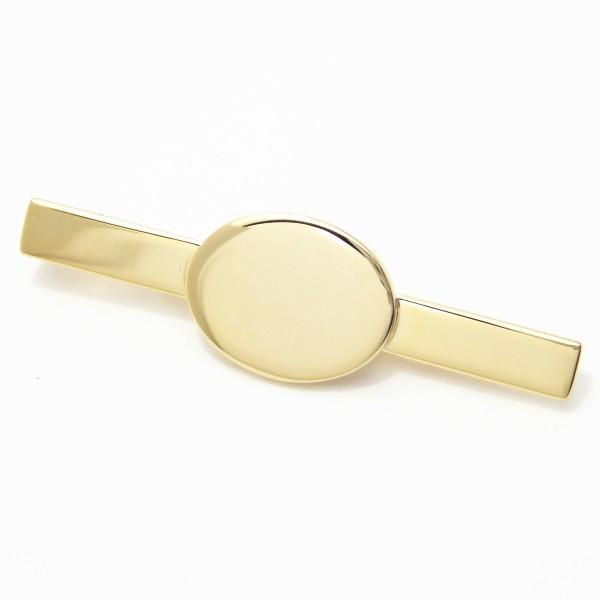 艶やかゴールド・ラウンドマークのネクタイピン