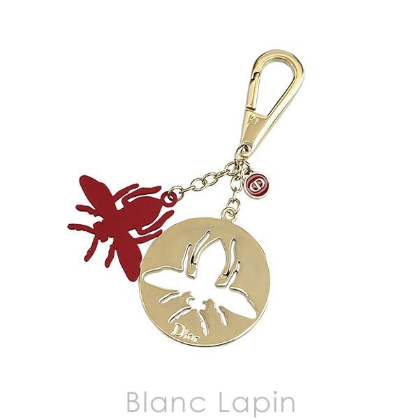 【ノベルティ】 クリスチャンディオール Dior チャーム ビー #ゴールド/レッド [387286]