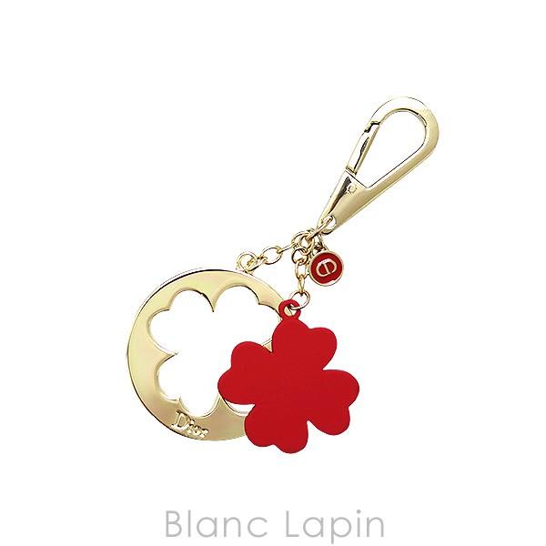 【ノベルティ】 クリスチャンディオール Dior チャーム クローバー #ゴールド/レッド [387279]