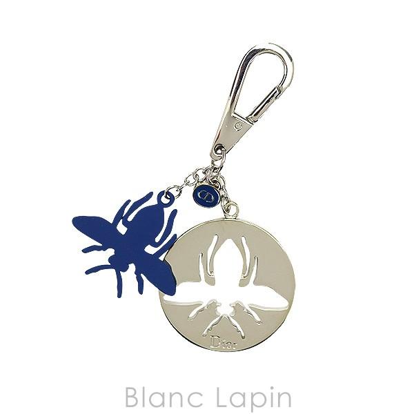 【ノベルティ】 クリスチャンディオール Dior チャーム ビー #シルバー/ブルー [504850]