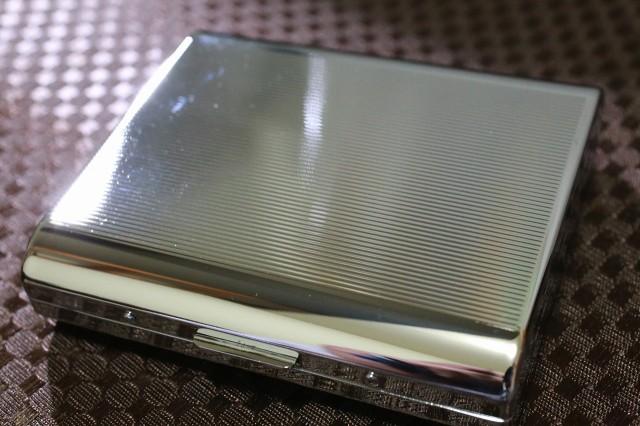 【PEARL】シガレットケース カジュアルメタル ストライプ模様 シルバー 人気 シガレットケース シンプル 売れ筋 おすすめ 煙草入れ