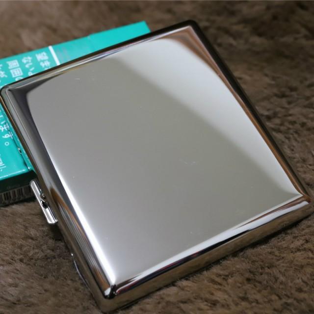 【PEARL】カジュアル メタル シガレットケース シルバーニッケル85mm ブランド たばこケース メタル 20本 丈夫 人気 ブランド 煙草ケ