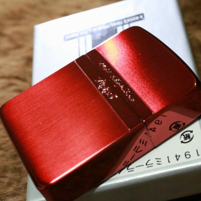 【ZIPPO】 1941レプリカ ミラーライン レッドサテン ブランド おすすめ 人気 ジッポ 赤 カジュアル 両面加工 お洒落 オイルライター