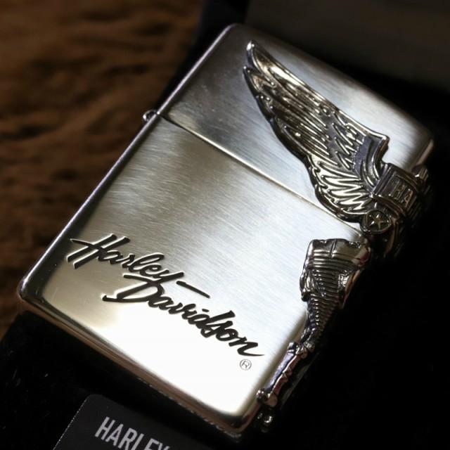 【純銀ZIPPO】HARLEY-DAVIDSON サイドウイング ハーレーダビッドソン ZIPPO 純銀ジッポ プレゼント 人気 スターリングシルバー 高級ジッ