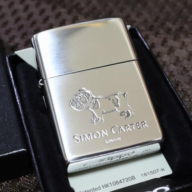 【SIMON CARTER】ジッポライター ブルドック 銀いぶし仕上げ サイモンカーター オイルライター おしゃれ プレゼント 人気 ブランド ZIPPO