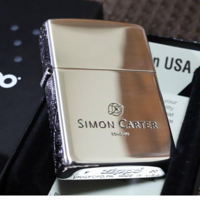 【SIMON CARTER】3面ペイズリー ジッポライター 銀いぶし仕上げ サイモンカーター オイルライター おしゃれ プレゼント 人気 ブランド ZI